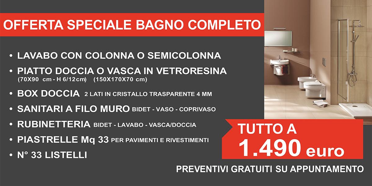 Offerta bagno completo a 1490 euro