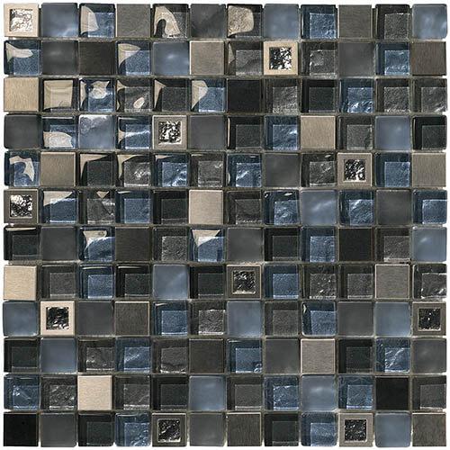 Piastrelle a mosaico Baikal per rivestimento 30x30 colore oceano, beige, perle, malva