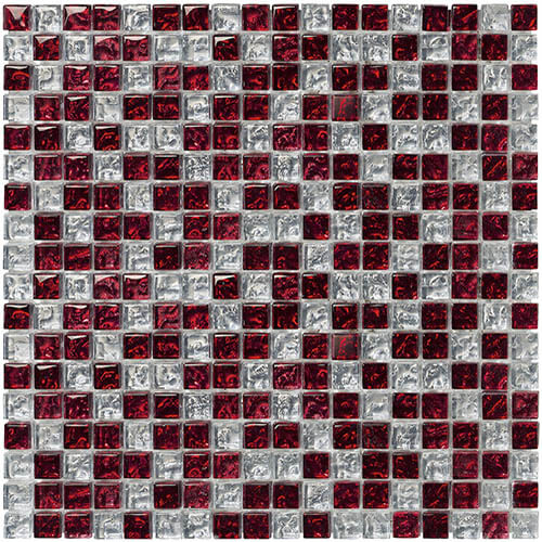 Piastrelle a mosaico Brillant glass per rivestimento 30x30 colore aquamarine, black, red, lilac