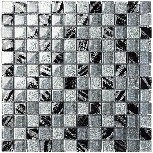 Piastrelle a mosaico Byblos per rivestimento 29,8x29,8 colore grigi