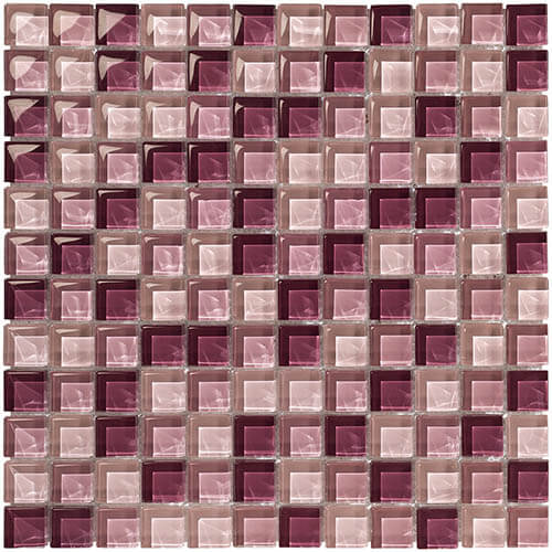 Piastrelle a mosaico Easy glass per rivestimento 30x30 colore pink, red, blue, violet, mint, brown