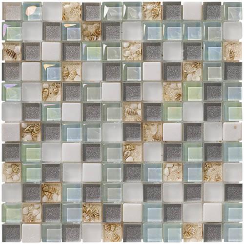 Piastrelle a mosaico Mini shell per rivestimento 30x30
