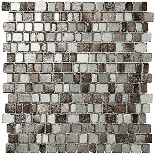 Piastrelle a mosaico Precious glass per rivestimento 31x31,5 colore grey e brown