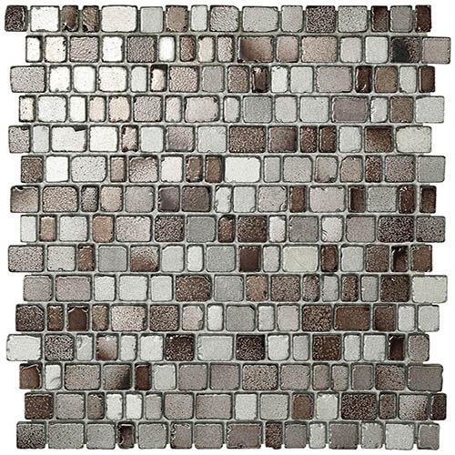 Piastrelle a mosaico Precious glass per rivestimento 31x31,5 colore grey e brown