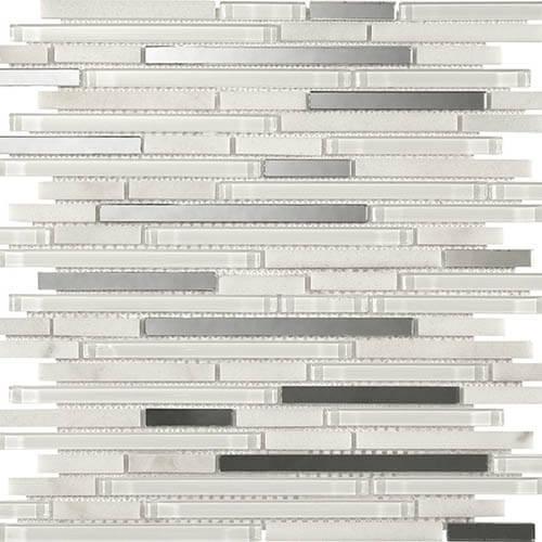 Piastrelle a mosaico Reflex per rivestimento 30x30 colore white
