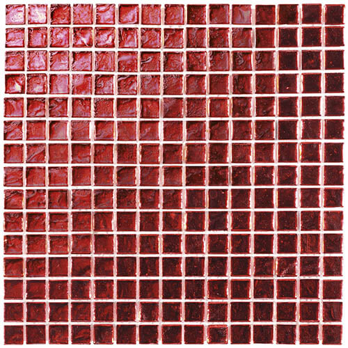 Piastrelle a mosaico Shine glass per rivestimento 29,6x29,6 colore red