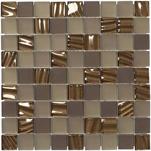 Piastrelle a mosaico Swing per rivestimento 30x30 colore caramello